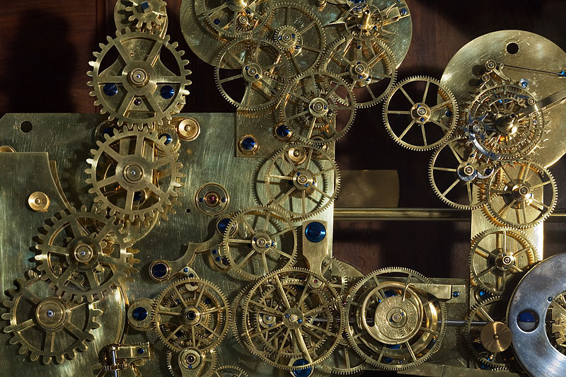 File:Vienna - Vintage Franz Zajizek Astronomical Clock machinery - 0518.jpg