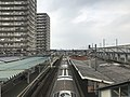 View from overpass of Araki Station (Kagoshima Main Line) 2.jpg