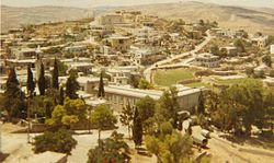 Village View from The Crusader Castle in 1969