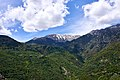 View of Mount Taygetus from the top of the Castle of Mystras.jpg