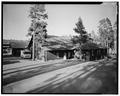 View southeast, west side - Lake Lodge, Southwest of Lake Junction, Lake, Teton County, WY HABS WYO,20-LAK,2A-5.tif