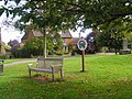 Village Sign and green at Lyddington - geograph.org.uk - 573613.jpg
