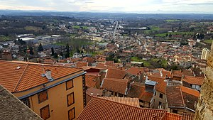 Thiers, Puy-de-Dôme - The lower city seen from the upper town