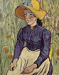 Vincent van Gogh - Boerenmeisje met gele strohoed