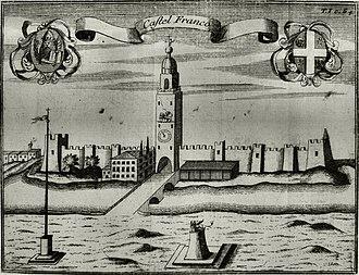 Battle of Castelfranco Veneto - Castelfranco as it appeared in 1697