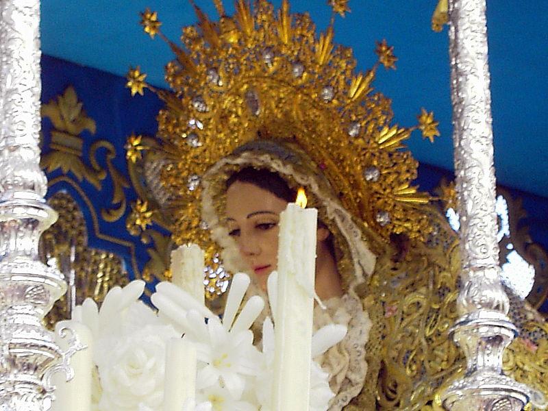 Archivo:Virgen de los Angeles Huelva.JPG