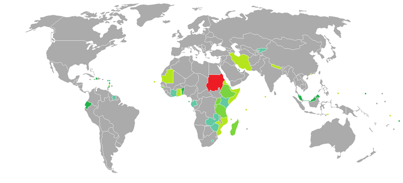 Visa requirements for sudanese citizens wikipedia visa requirements mapedit gumiabroncs Choice Image