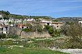 Vista de les cases de Llombai, la vall de Gallinera.JPG