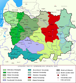 Vitebsk Voivodeship within Lithuania in the 17th century.png
