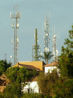 Telecommunications in South Africa - Suburban communication towers in Pretoria