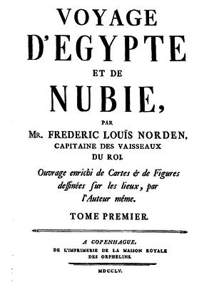 Voyage d'Egypte et de Nubie - Frontpage of Voyage d'Egypte et de Nubie, 1755 edition.