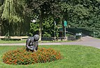 Vreden, beeldhouwwerk bij loopbrug over de Berkel foto10 2015-08-22 14.26.jpg