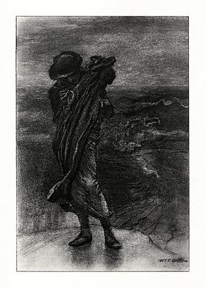 Break, Break, Break - c. 1901 illustration to the poem by W. E. F. Britten