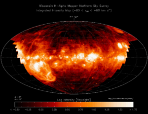 H-alpha - Milky Way view by Wisconsin H-Alpha Mapper survey