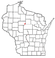 Location of Goodrich, Wisconsin