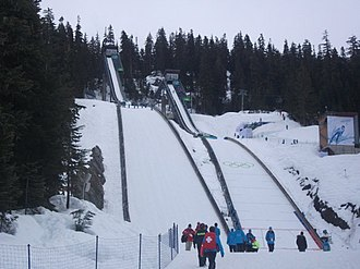 Venues of the 2010 Winter Olympics - Whistler Olympic Park ski jumps at Callaghan Valley