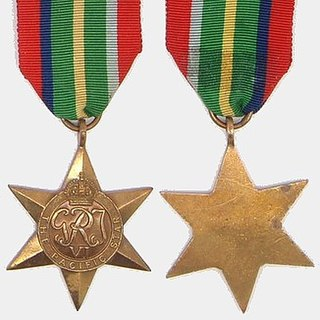 Pacific Star British military campaign medal