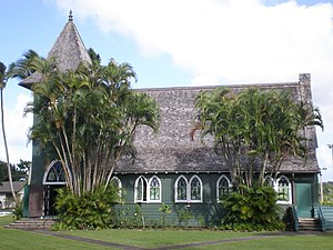 Waioli Mission District - Image: Waioli Huiia church side