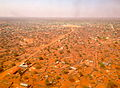 Wajir town, approaching on a plane. 2013.JPG