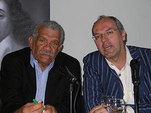 Michiel van Kempen - Van Kempen and Derek Walcott, Nobel Prize in Literature, in 2008; foto: Usha Marhé