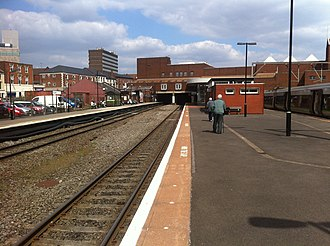 Walsall railway station - Platforms one, two and three at Walsall.