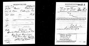 W. C. Robinson - World War I draft registration