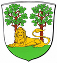 Arms of the Burgdorf district in Hanover, showing a lion couchant guardant (1940)