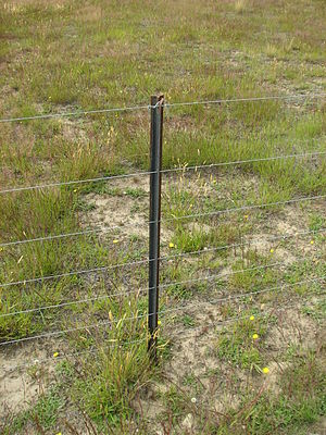 Steel fence post -  200px