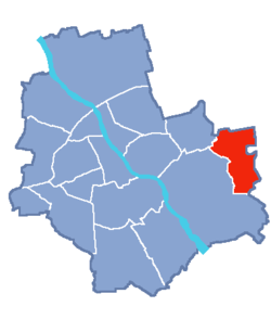 Location of Wesoła within Warsaw