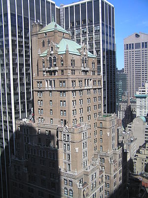 Warwick New York Hotel - The top part of the building