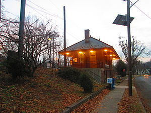 Watchung Avenue station - The Watchung Avenue station depot in December 2014.