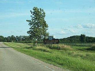 Waterloo, Wisconsin - Image: Waterloo Wisconsin Sign