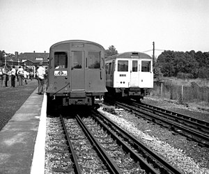 London Underground A60 and A62 Stock - A Stock (right) replaced F and P (left) Stocks on the Metropolitan line