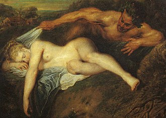 Lying (position) - Painting of a lying woman