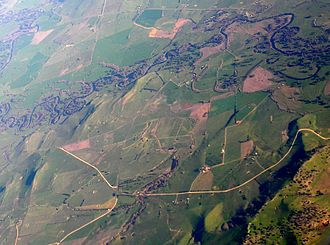 Welaregang, New South Wales - Aerial photo from north west