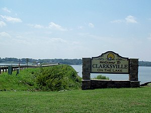 Clarksville, Virginia - Clarksville welcome sign