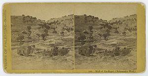 Ein Rogel - Nehemiah's Well in ca. 1870.
