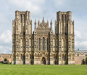 Wells Cathedral - West front of Wells Cathedral
