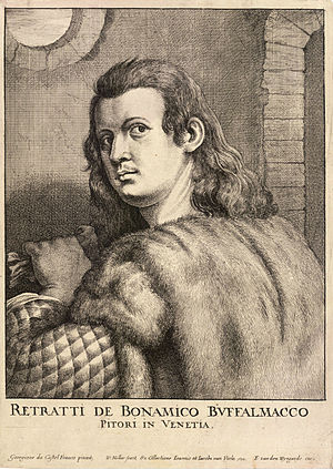 Buonamico Buffalmacco - 17th-century engraving of Buffalmacco by Wenceslas Hollar