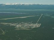 West Yellowstone MT - aerial