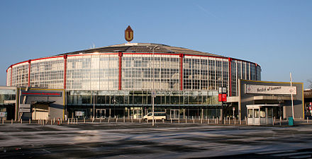 The Bundesliga was founded at the annual DFB convention at the Westfalenhallen in Dortmund on 28 July 1962 Westfalenhalle 1 Dortmund.JPG