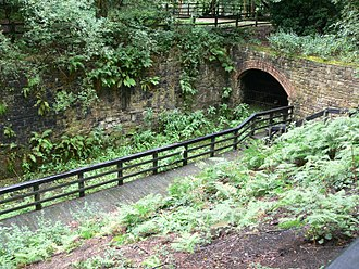 Wet Earth Colliery - Canal entrance to the colliery