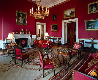 Red Room (White House) - The Red Room, looking northwest during the administration of Bill Clinton.
