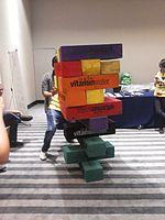 Wikimania 2015-Wednesday-Volunteers play Weasel-Jenga (20).jpg