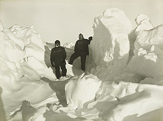 Imperial Trans-Antarctic Expedition - Shackleton and Wild among the pressure ridges in the pack ice
