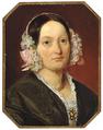 Wilhelm Marstrand - Portræt af Wilhelmine Pronk - 1844.png