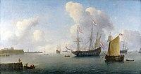 Willem Hermansz. van Diest - Zicht op de rede van Fort Rammekens bij Vlissingen.jpg