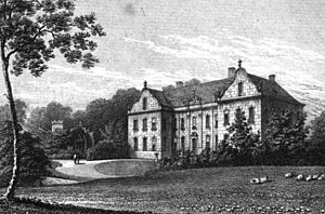 Abney-Hastings baronets - Willesley Hall, seat of the Abney, and, Abney-Hastings family.