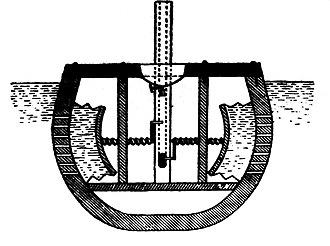 William Bourne (mathematician) - Submarine by William Bourne, in Inventions or devices, 1578.