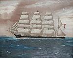 William Howard Yorke (circle) - 'Cissie' - a four masted Barque.jpg